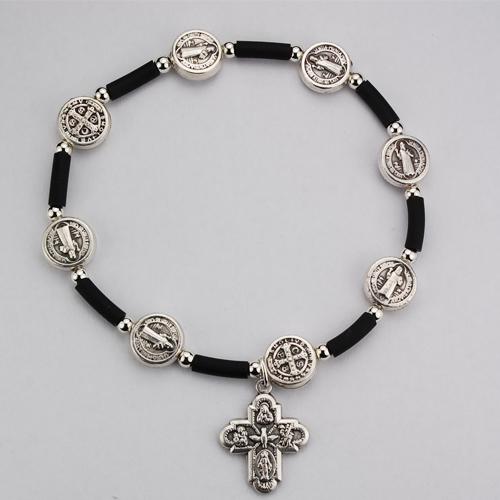 St. Benedict Black Rubber