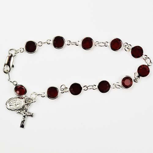 """7 1/2"""" Garnet Bracelet"""