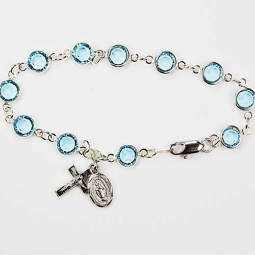"7 1/2"" Aqua Bracelet"