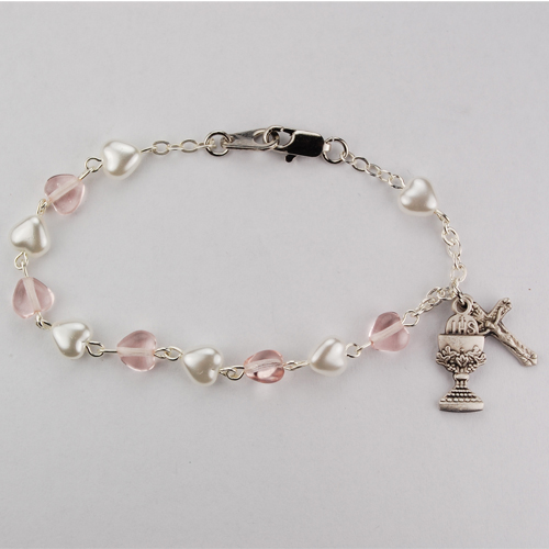 Sterling White And Pink Pearl