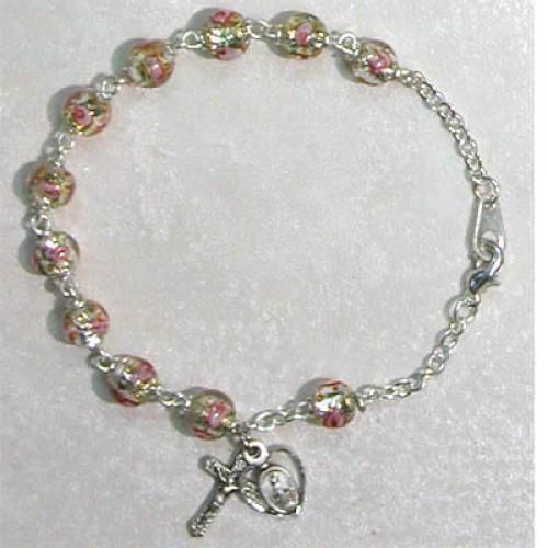 """7 1/2"""" Clear Venetian Bracelet"""