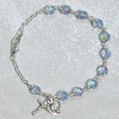"7 1/2"" Blue Tincut Bracelet"