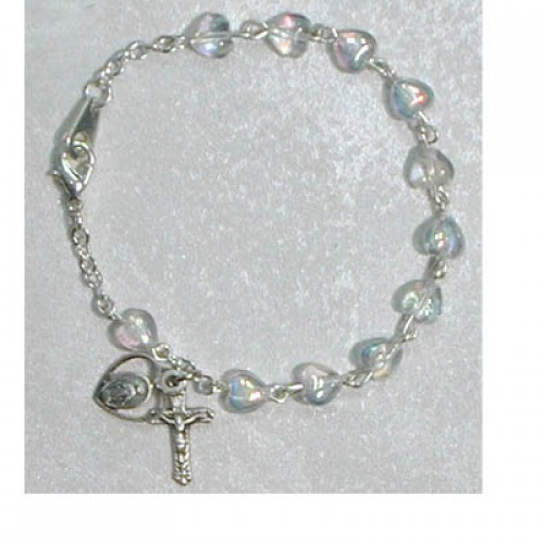 "6 1/2"" Crystal Heart Bracelet"