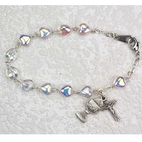 Pearl Heart Stretch Bracelet