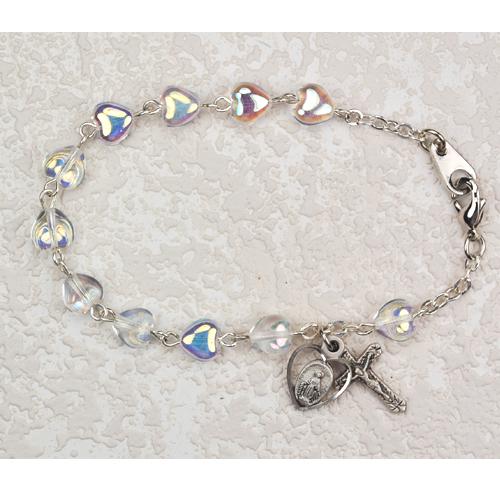 "6 1/2"" Crystal Heart Bracelet"