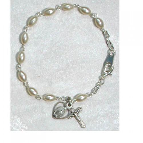 """6 1/2"""" Oval Pearl Bracelet"""