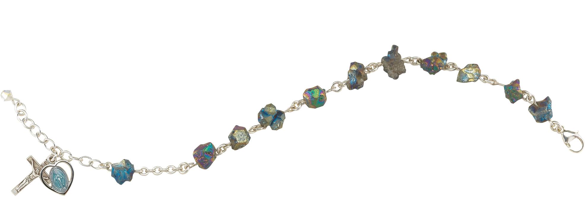 10-12mm Iris Nugget Rosary Bracelet