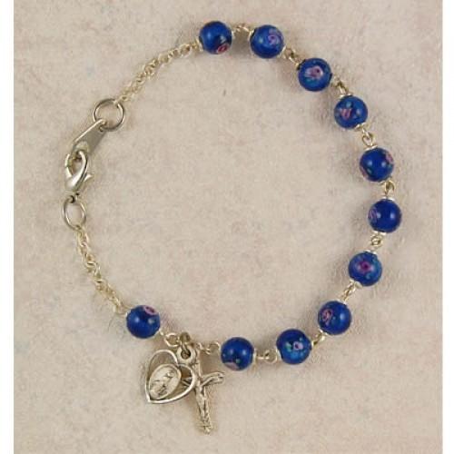 "7 1/2"" Blue Venetian Bracelet"