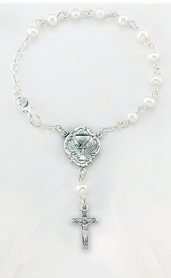 5mm Freshwater Pearl Communion Bracelet