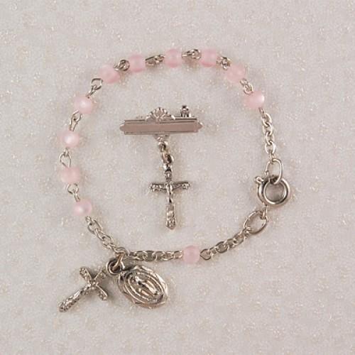 Sil Pink Baby Bracelet/Pin Set