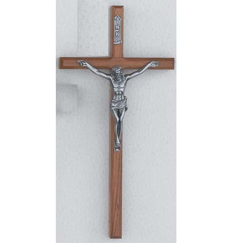10-inch Beveled Walnut Crucifix
