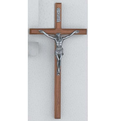 10-inch Beveled Walnut Crucifix