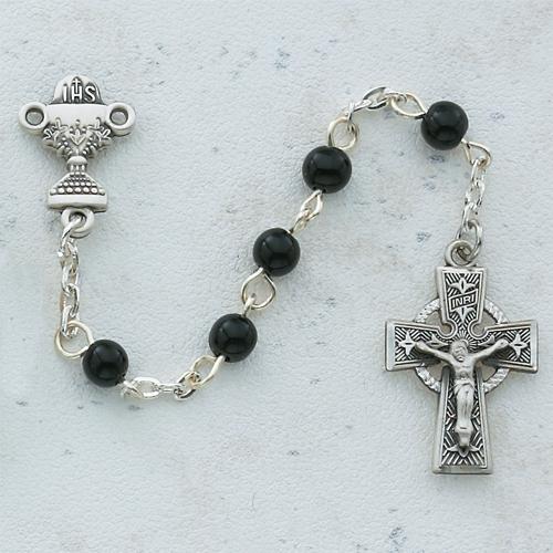 5MM Black Celtic Communion Rosary