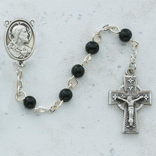 5MM Black Celtic Rosary