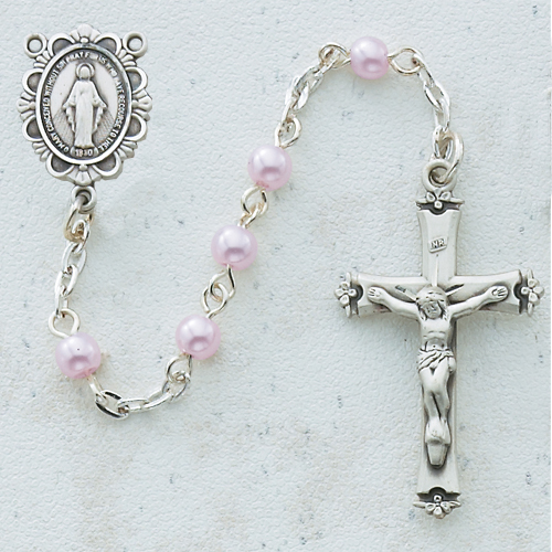 RF 5MM Pink Pearl Rosary