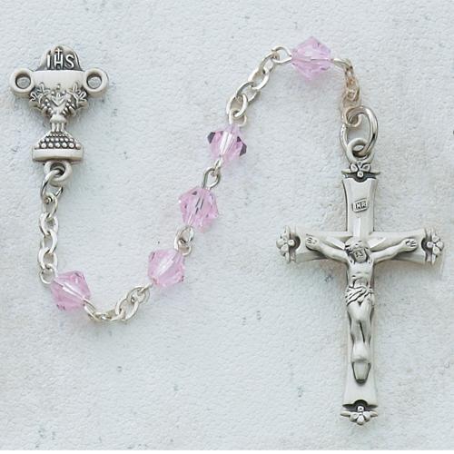 5MM Pink Communion Rosary