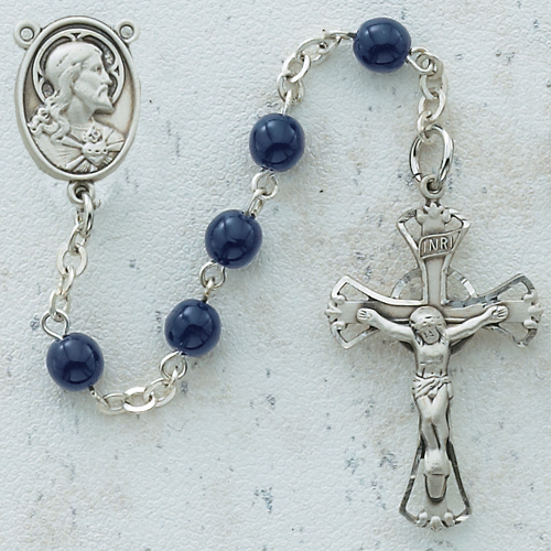 5MM Blue Glass Rosary