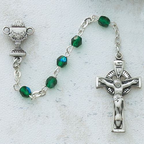 3MM Green Irish Communion Rosary