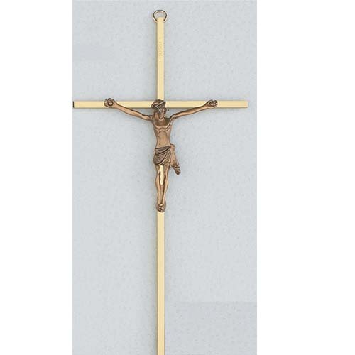 10-inch Sterling Silver with Gold Corpus Crucifix