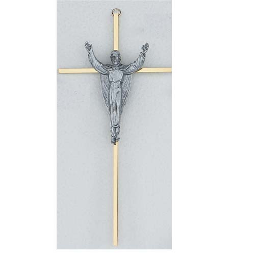 10-inch Sterling Silver Risen Crucifix