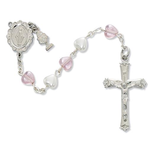 Pearl & Pink Crystal Rosary