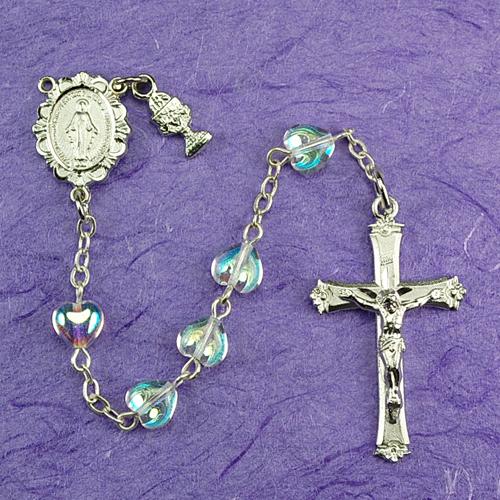 RF Crystal Heart Rosary