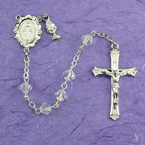 RF Tin Cut Crystal Rosary