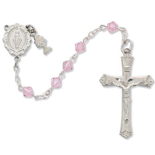 RF Pink Tin Cut Rosary