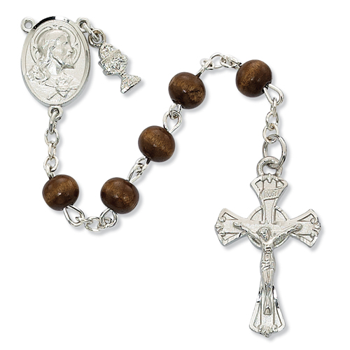 RF 6MM Brown Wood Rosary