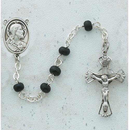 5MM Black Wood Rosary
