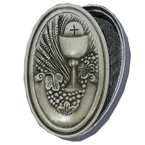 Oval Pewter Communion Box