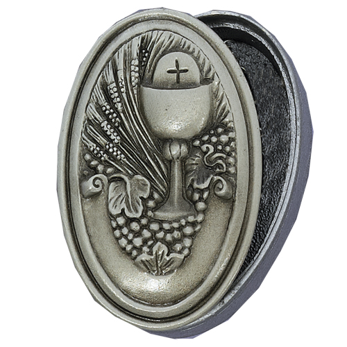 Oval Pewter Communion Box