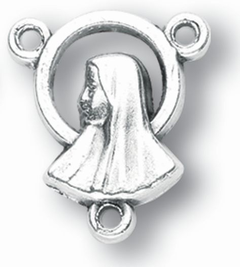 10-Pack - Oxidized Madonna Profile Center Piece