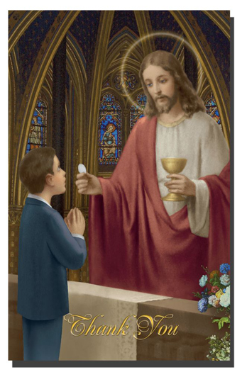 8-Pack - Cathedral Boy Communion Thank You