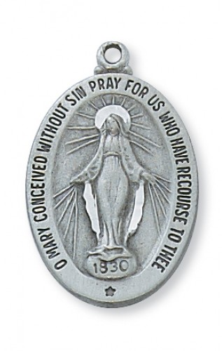 Pewter Miraculous Medal With