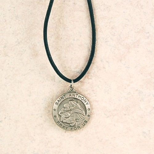 Pewter St Anthony Medal With