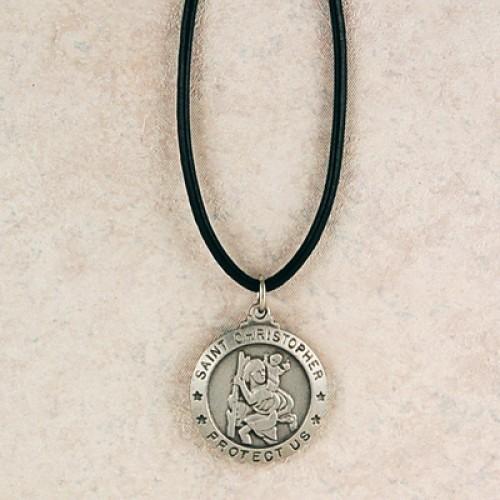 Pewter St Christopher Medal
