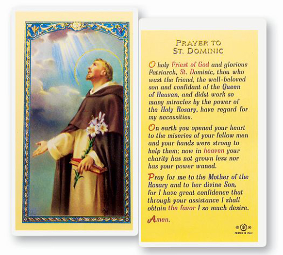 25-Pack - Prayer To St. Dominic Holy Card