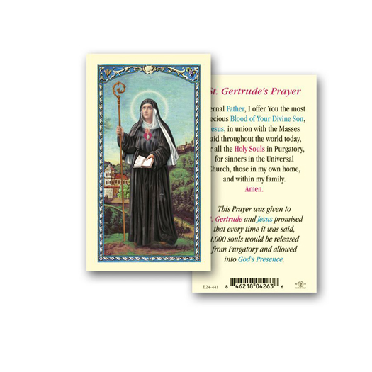 25-Pack - St. Gertrude Holy Card