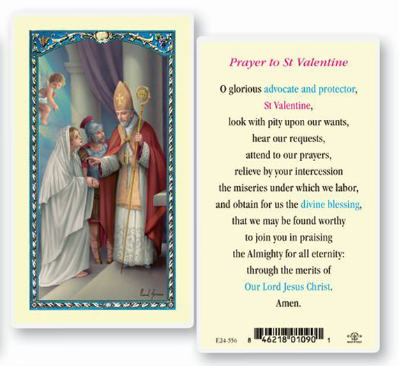 25-Pack - St Valentine Day Holy Card