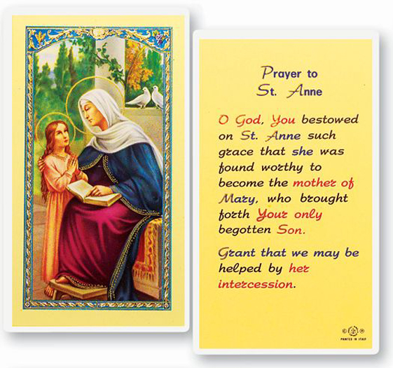 25-Pack - St Anne Holy Card