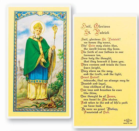 25-Pack - St. Patrick-Hail Glorious Saint Holy Card