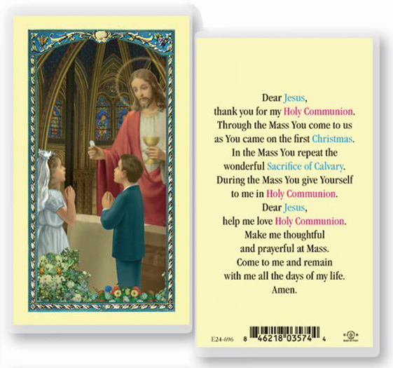 25-Pack - First Communion Prayer Holy Card