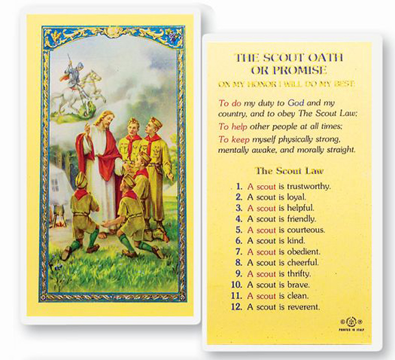 25-Pack - The Boy Scout Oath Of Promise Holy Card