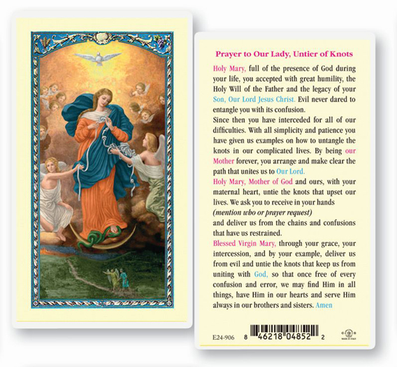 25-Pack - Our Lady, Untier Of Knots Holy Card