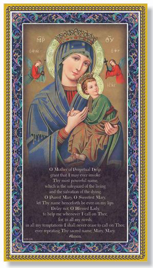 "5""X9"" Mother Of Perpetual Help Plaque"