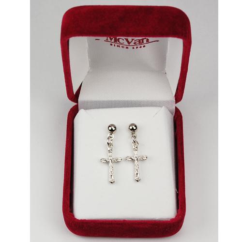 Rf Crucifix Earrings