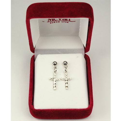 Rf Cross Earrings