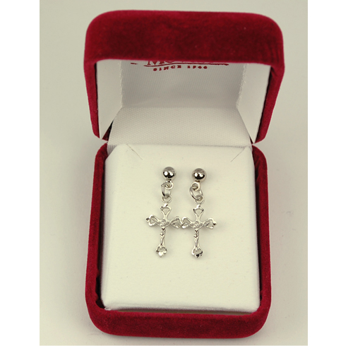 Rf Crucifix Earrings