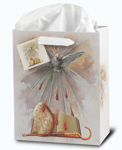Confirmation Small Gift Bag With Tissue 33/4X5X2 10-Pack